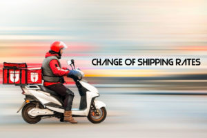 Change of shipping cost